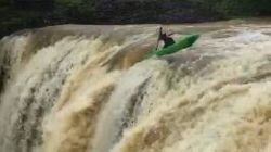 Crazy Kayaker Plunges Into Waterfall In Queensland's Far North During