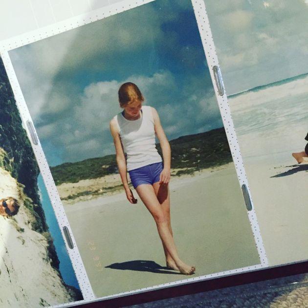 Bridget, aged 12, on a beach in Margaret River, Western