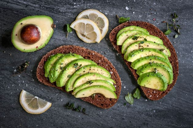 Avocado on dark rye bread is the best of two worlds: low GI carbs and healthy
