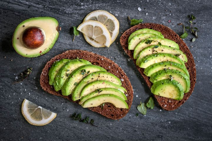 Avocado on dark rye bread is the best of two worlds: low GI carbs and healthy fats.