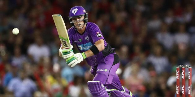 MELBOURNE, AUSTRALIA - JANUARY 12: Ben McDermott of the Hurricanes bats during the Big Bash League match...