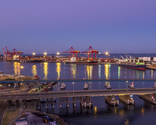 Fremantle Port, morning