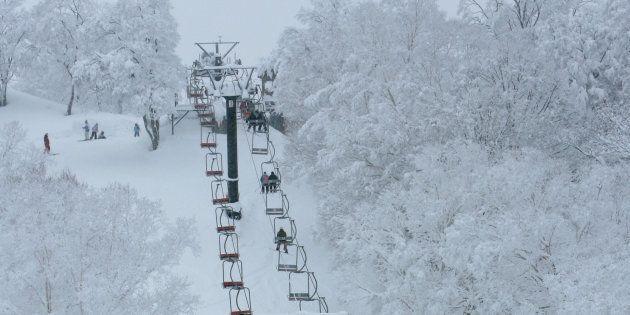 Nozawa Onsen ski resort is on the west