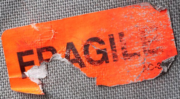 Apparently luggage marked fragile comes out