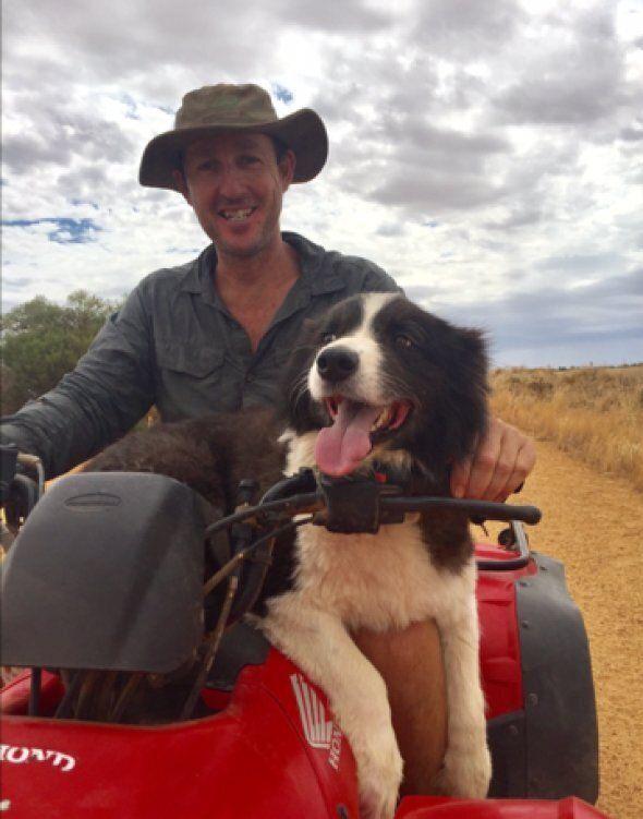 Jimmy getting a ride with Farmer Bob
