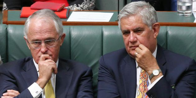 Ken Wyatt now on the frontbench with Prime Minister Malcolm Turnbull