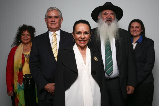Senator Malarndirri McCarthy, Liberal MP Ken Wyatt, Labor MP Linda Burney, Senator Pat Dodson and Senator...