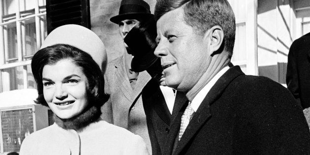 DISTRICT OF COLUMBIA, UNITED STATES - JANUARY 20:  Jacqueline Kennedy and her husband, newly elected President John F. Kennedy, on the day of his Inauguration.  (Photo by Paul Schutzer/The LIFE Picture Collection/Getty Images)