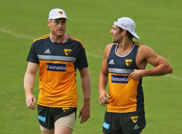 Roughie and Hodgey a couple of years ago