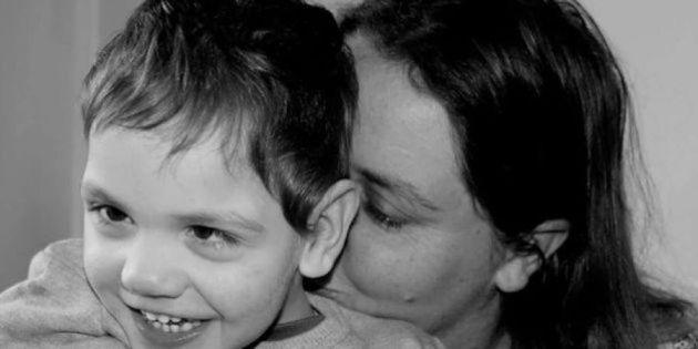 Victorian mum Cassie Batten with her son