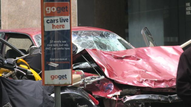The car involved in the alleged incident in Melbourne's