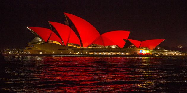 The Opera House went red last year to celebrate