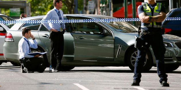 Police cordon off Bourke Street mall on