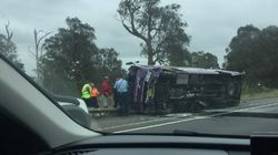 Woman Dead, Seven People Injured In Horrific Highway Bus