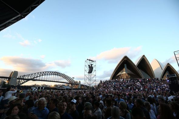 Crowded House perform on stage during the 'Encore' tour at Sydney Opera House on November 24, 2016 in Sydney, Australia.  (Photo by Mark Metcalfe/Getty Images)