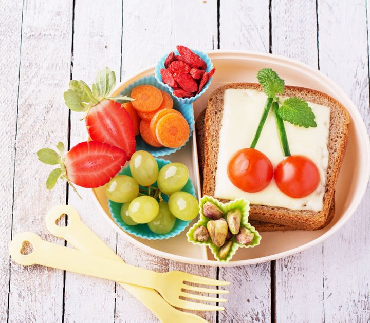 Quick tip: serving the food in a cute, quirky lunchbox can pique your child's interest.