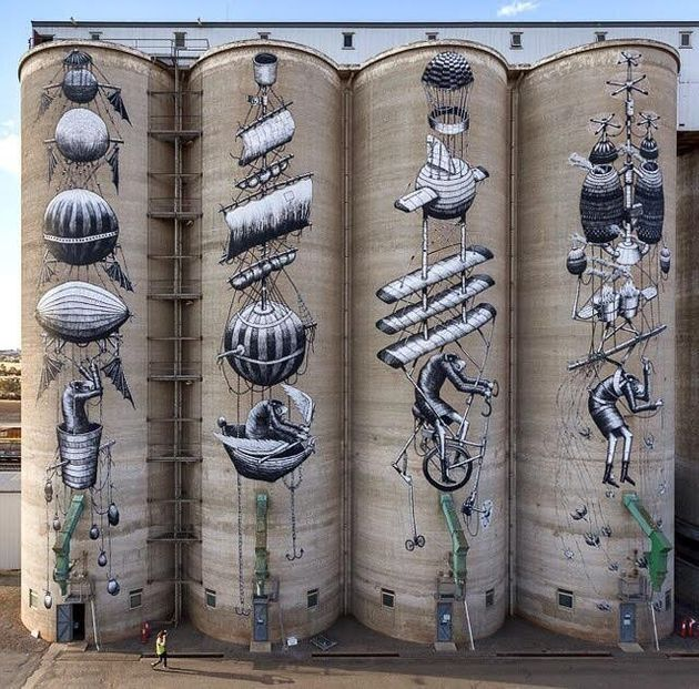 The Incredible Painted Grain Silos Of Northam, Western