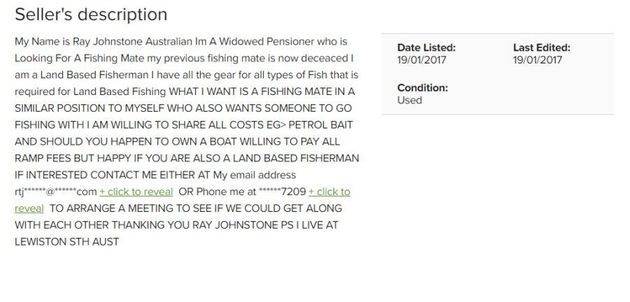 Widowed Pensioner Looks For A Fishing Buddy On