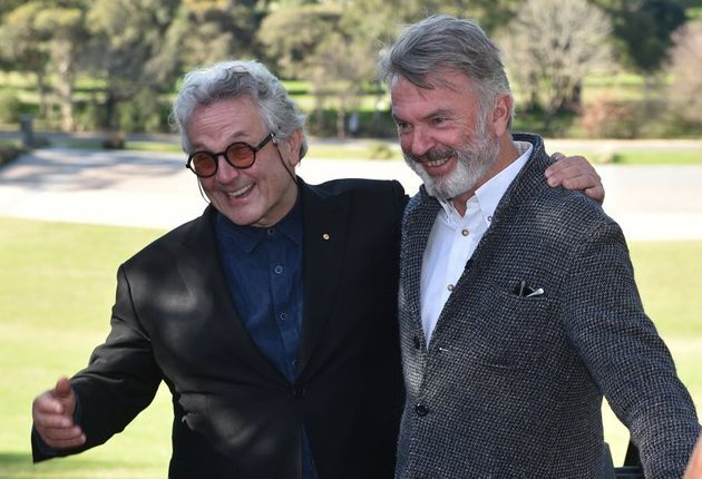 Aussie filmmaker and board member, George Miller, and actor Sam Neill can't quite contain their
