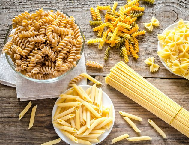 Opt for darker versions of pasta, bread and crackers, like on the