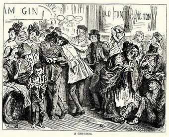 A sketch of a gin shop from Charles Dickens' book Sketches by Boz