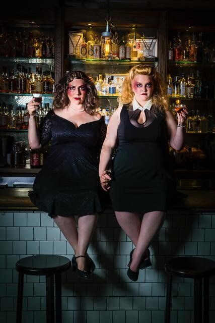 Maeve Marsden and Libby Wood in the sell-out show Mother's Ruin: A Cabaret about