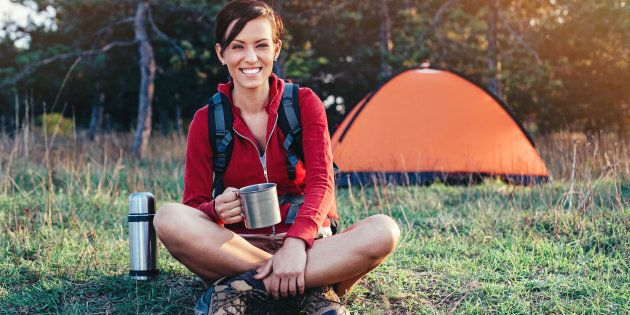 Camping only counts if you leave your torch and phone at