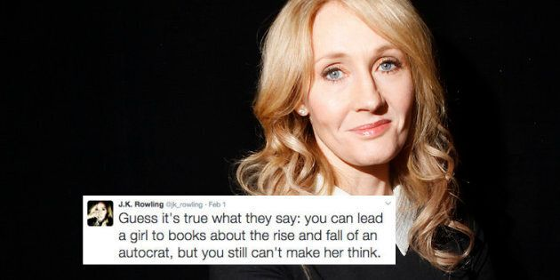 Author J.K. Rowling poses for a portrait while publicizing her adult fiction book