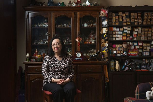 Cheryl Cumines in her sister's home in