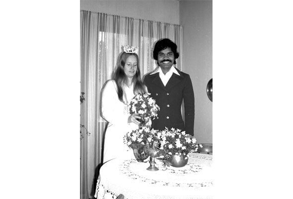 PK and Lotta's wedding in May, 1979.