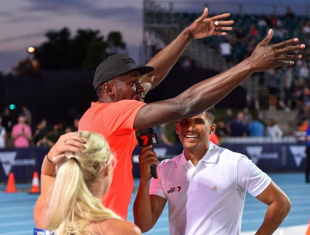 Steffensen interviews Usain Bolt's armpit. Because Nitro