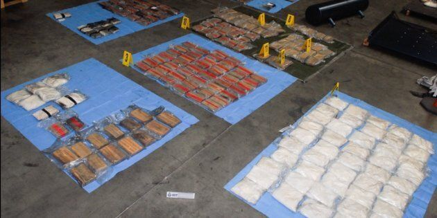 254kg of illegal cocaine and 104kg of methyl-amphetamine has been seized by Federal police.