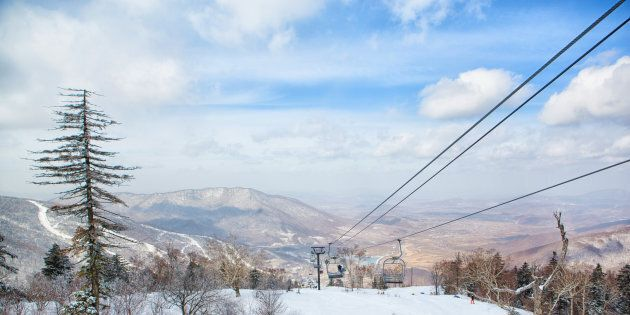 A view of the slopes at Club Med Beidahu, in Jilin Province,