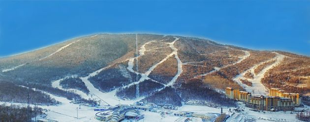 The slopes at Club Med Beidahu, in Jilin Province, North-East