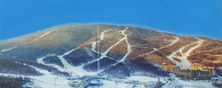 The slopes at Club Med Beidahu, in Jilin Province, North-East China.