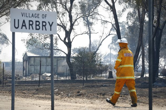 Property damage at Uarbry, NSW, after it was hit by the Sir Ivan fire the day before, on Monday 13 February...