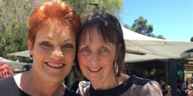 One Nation candidate Michelle Meyers (right) with party leader Pauline
