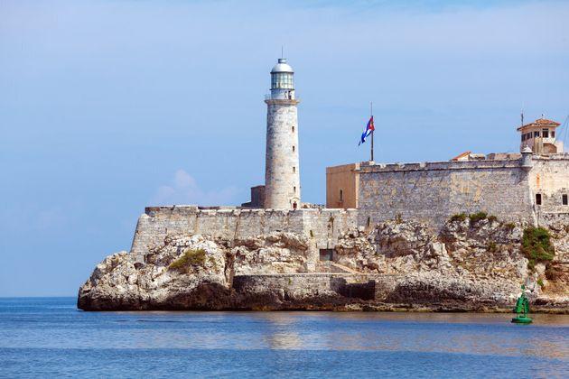 Morro Castle, fortress guarding the entrance to Havana bay,