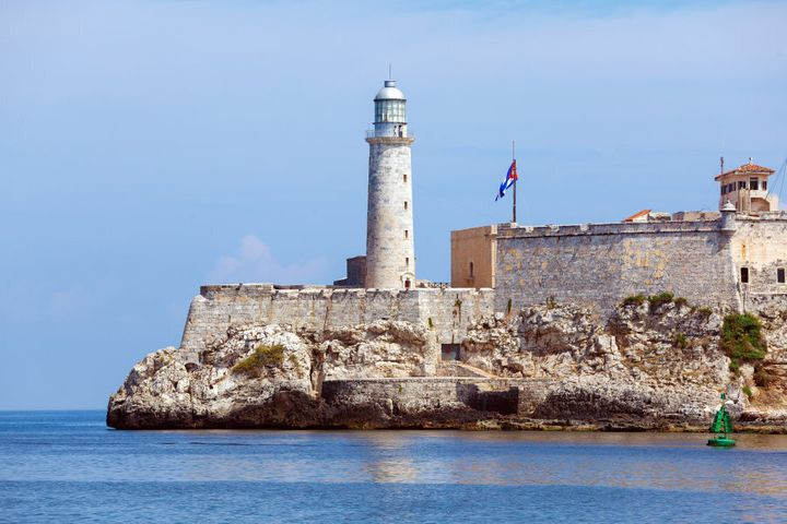 Morro Castle, fortress guarding the entrance to Havana bay, Cuba.
