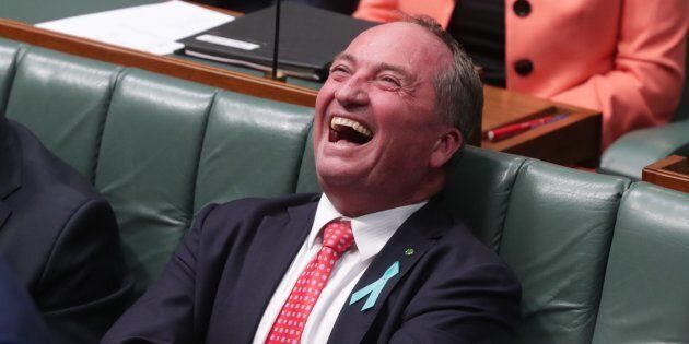 Barnaby Joyce has been sledging Annandale for a