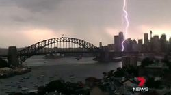 The Incredible Moment Lightning Struck As Storms Surge Into
