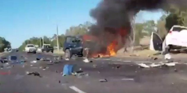 A horor car smash in WA has been caught on