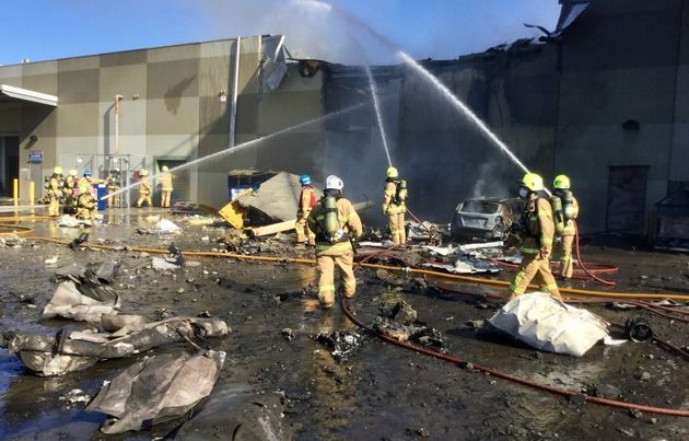 More than 60 firefighters were called to the