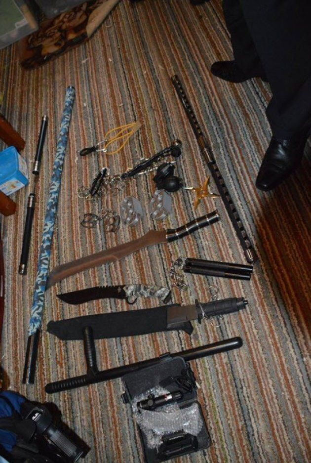 Look At The Crazy Weapons NSW Cops Seized From A Bikie Gang