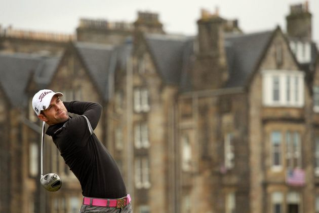 Teeing off during the first round of the 139th Open Championship on the Old Course, St Andrews on July...