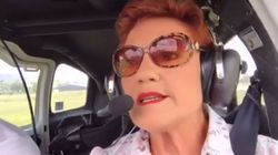 Pauline Hanson Just Held A Flying Facebook Live Piloted By Her