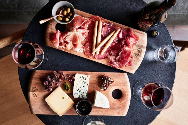 Just wine and cheese, please.