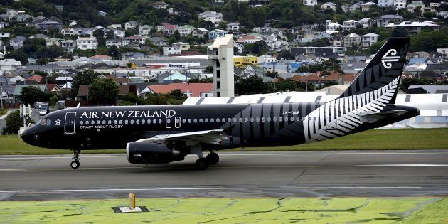 That's one big, big plane on Wellington's small and windy landing strip. Lucky the pros can handle