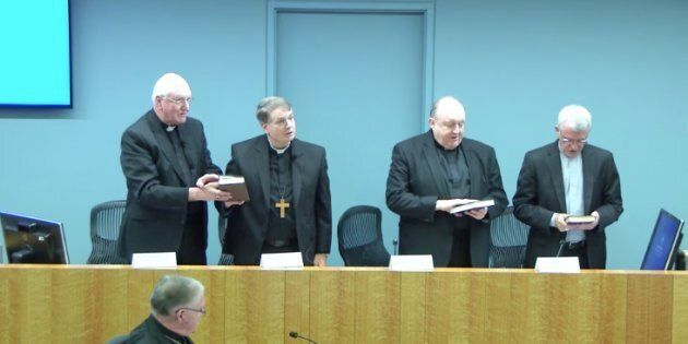 The Archbishops of Sydney, Melbourne, Brisbane, Adelaide and Perth Appear before the Royal Commission...