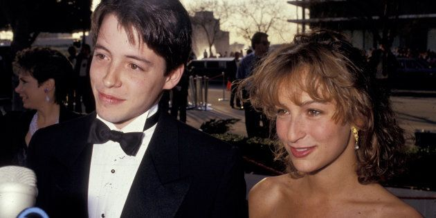Matthew Broderick and Jennifer Grey during 59th Annual Academy Awards at Shrine Auditorium in Los Angeles,...